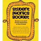 French Phonics Blends Student Booklet (French Immersion) Grades 1, 2, 3