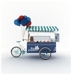 My Work On 3D Max .. Ice Cream Cart