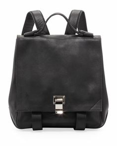 Medium Leather Backpack, Black by Proenza Schouler at Bergdorf Goodman.  Black Leather Backpack, a2545b6217