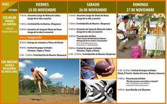 Programación general del Festival Yoreme Sinaloa 2016. Del 25 al 27 de noviembre. Culiacán | Los Mochis.