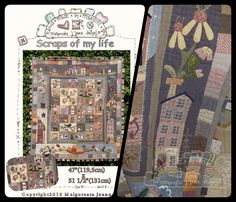 https://www.etsy.com/de/listing/448675712/scraps-of-my-life-pdf-pattern-quilt?ref=listing-shop-header-1 #quilt #country #primitive #pattern #hand_appliqué #patchwork #costura #mjjenek