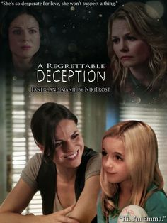 Awesome Regina Emma young Emma (Lana Jen McKenna Grace) on an awesome cover for the awesome #Once fanfic #ARegrettableDeception
