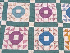 Vintage ANTIQUE HAND STITCHED - HAND QUILTED BABY QUILT