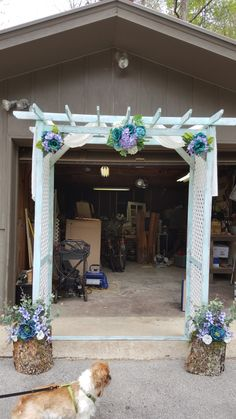 Arch my brother built then I decorated