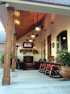 Hanging Out On The Back Porch Of French Country Acadian House Plan 56365SM.  Life Could