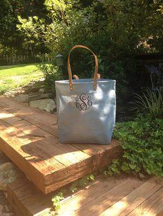 Monogram Jute Bag by IFlewTheNest on Etsy, $22.00