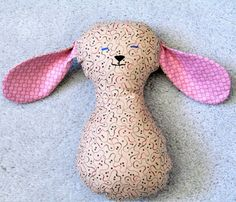 Pretty Plushie Pretty Puppy Toy; Plush Animal; Stuffed Dog; Brown Puppy; Adorable Stuffed Puppy; Floppy-Eared Puppy by OBeginsOwl on Etsy