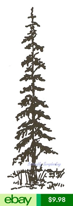 Northwoods Rubber Stamps Decorative Rubber Stamps Crafts Metal Tools, Metal Art, Pine Tree Silhouette, Stamps, Silhouettes, Wood, Prints, Handmade, Ebay