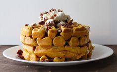 Yammie's Noshery: Pumpkin Belgian Waffles
