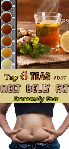 Top 6 Teas That Melt Belly Fat Extremely Fast
