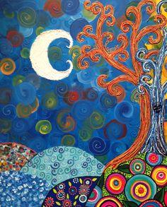 Www.Miscuadritosdecolores.Blogspot.Com Arbol de la vida Técnica mixta. Mixmedia mixedmedia