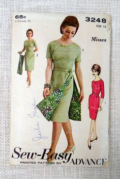 1faa22f9 Vintage Pattern Advance 3248 1960s wiggle by momandpopcultureshop Jackie  Kennedy Style, Apron Dress, Vintage