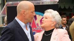<p>  Bruce Willis with his mother, Marlene, as he receives a well-earned star on the Hollywood Walk of Fame, Los Angeles, in 2006</p>