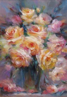Картина с розами «Торжество»
