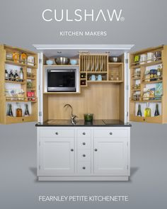 The new Fearnley Petite kitchenette - The culmination of all we have learned from 10 years of kitchenette manufacture and R&D. Turn any room into a kitchen.