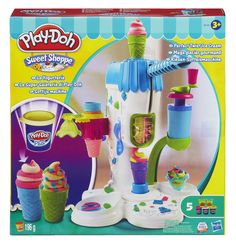 Are the kiddos wanting a Play-Doh item for Christmas? If so, you may want to head on over to Target, where you can snag the Play-Doh Ice Cream Parlor for Toys Uk, Kids Toys, Ice Cream Playset, Play Doh Plus, Age, Play Doh Ice Cream, Glacier, Ice Cream Parlor, Soft Serve