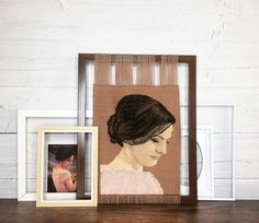 Modern Tapestries, Fun Challenges, Frame Sizes, Hand Weaving, Textiles, Paper, Handmade, Crafts, Portraits