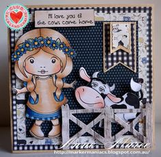 From our Design Team! Card by Anne-Maree Campbell featuring Club La-La Land Crafts April 2016 exclusive On the Farm Marci, Hay There stamp set and these Dies - Stitched Pennants, Country Fence, Tree Branch :-) Club La-La Land Crafts subscription details are here - http://lalalandcrafts.com/Club_La-La_Land_Crafts.html  Coloring details and more Design Team inspiration here -  http://lalalandcrafts.blogspot.ie/2016/04/club-la-la-land-crafts-april-2016-kit.html
