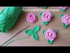 Crochet leaf making / Knitting patterns - Crochet Leaves, Crochet Motifs, Granny Square Crochet Pattern, Crochet Art, Love Crochet, Irish Crochet, Crochet Flowers, Crochet Stitches, Tricot Simple
