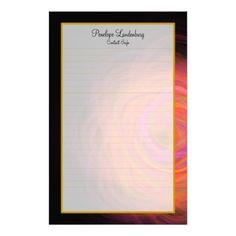 Monogram Golden Wormhole Fine Lined Stationery