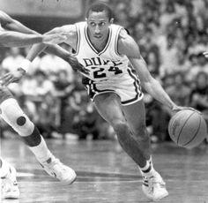 Duke basketball Johnny Dawkins - watching Duke basketball with Mark..