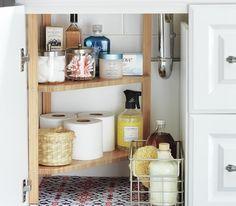 Bathroom storage and organizing ideas