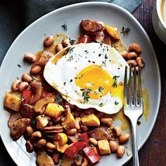 One-Pot Meals: Sausage and Black-Eyed Pea Hash Recipe | CookingLight.com