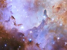 Marking its anniversary, the Hubble Space Telescope takes a deep look into the Westerlund 2 star cluster, roughly light-years from Earth. Cosmos, Star Formation, Most Beautiful Wallpaper, Hubble Space Telescope, Nasa Space, Star Cluster, Jesus Pictures, Celebrity Wallpapers, Light Year