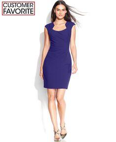 53ae6710e034 Calvin Klein Petite Cap-Sleeve Cutout-Neckline Sheath   Reviews - Dresses -  Petites - Macy s · Tætsiddende KjolerSort ...