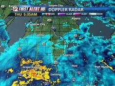 Doppler Radar Showing Intense Rain Pattern As Of 5 35 A M October 31st Alpena Doppler Radar Saginaw