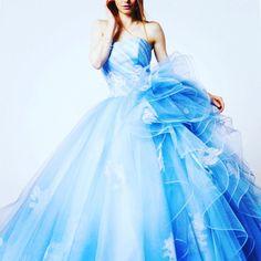 #weddingdress #dress #bridalgown #promdress #novias #ウエディングドレス#カラードレス #プレ花嫁 #レンタルドレス #きれい#エアリー#ブル - kiyoko_hata