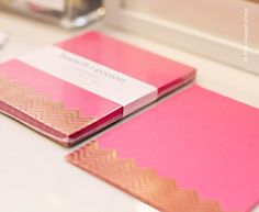 So cute and feminine on my desk, when you can see my desk......gold foil notepad