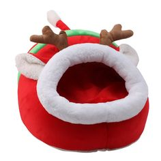 Kocome Xmas Reindeer Pet Nest Dog Cat Puppy Sleeping Bed Pad Warm Cave Cushion Kennel -- To view further for this item, visit the image link. (This is an affiliate link and I receive a commission for the sales)