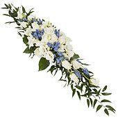 Se nærmere på Stor avlang borddekorasjon i hvitt og blått
