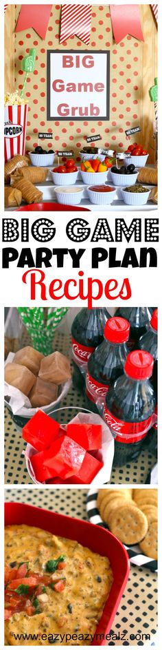 Big Game Party Planning Recipes: Delicious football queso, flavored ice cubes, football shaped cookies and more! #ad #preparetoparty - Eazy Peazy Mealz