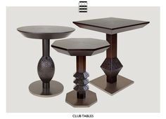 occasional tables Berman Rosetti club cocktail tables
