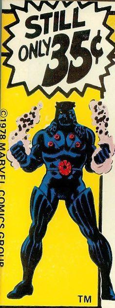 Marvel corner box art - Micronauts (Baron Karza)