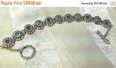 SALE 20% OFF Fiery Ethiopian Opal Bracelet in Sterling Silver Handmade Jewelry