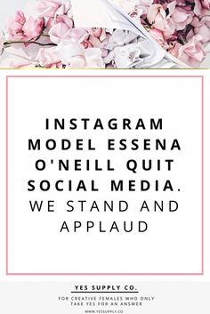 Wanna  increase your social media following to 500,000? Instagram Model Essena O'Neil Quit Instagram and the fakeness that ensues on social medial. Read why she did it and how you can too on my personal development blog. Make sure to Go read www.yessupply.co