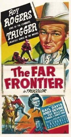 Poster from the film The Far Frontier