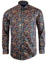 60c203f18d54 GUIDE LONDON 60s Psychedelic Painted Paisley Shirt. Mod Fashion ...