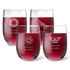 Personalized Tritan Acrylic Stemless Wine Set – Summer Collection