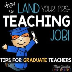 HOW TO LAND YOUR FIRST TEACHING JOB! Tips for graduate and new teachers from Miss Jacobs Little Learners. Interviews, Key Selection Criteria and Teacher Portfolios.