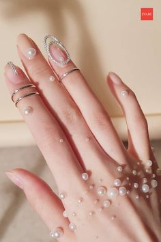 beauty design nails manicure: An immersive guide by DyMeTra Nail Ring, Nail Manicure, Oval Nails, Pink Nails, Hand Jewelry, Cute Jewelry, Trendy Nails, Cute Nails, Stylish Nails