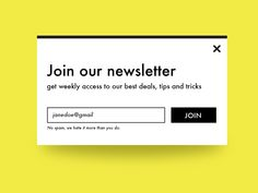 Newsletter Signup designed by Ivana Todorovski. Newsletter Signup, Newsletter Design, Newsletter Ideas, Email Template Design, Email Design, School Website Templates, Schools Near Me, Pop Up Banner, Web Design
