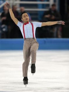 DAY 8:  Florent Amodio of France competes during the Figure Skating Men's Free Skate http://sports.yahoo.com/olympics