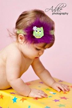 Haalee Hoots-Sweet Felt Owl Headband-Lime and Purple-children, accessories, boutique, owl headband, elastic, purple, lime green, marabou feathers, felt embroidered owl, newborn, infant, toddler, tween, teen, adult, women, party accessory, hair, girl, baby stretch bands, birthday, baby shower gift, photography prop