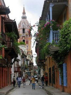 Calles del Centro Histórico Cartagena Bolívar, Colombia