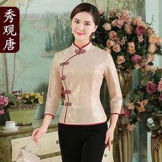 Lovely Dresses, Beautiful Outfits, Moda China, Silk Kurti Designs, Chinese Shirt, Yukata Kimono, Batik Fashion, Cheongsam Dress, Chinese Clothing