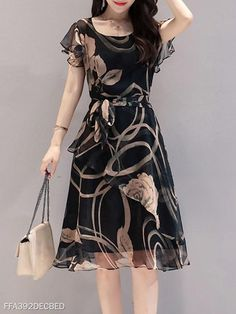 Round Neck Floral Printed Skater Dress cute dresses cute dresses casual cute dresses for summer cute dresses for women cute dresses casual summer dresses Casual Summer Dresses, Modest Dresses, Elegant Dresses, Cute Dresses, Sexy Dresses, Skater Dresses, Formal Dresses, Wedding Dresses, Dress Casual